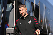 Scunthorpe United Charlie Goode (20) arrives at the ground before the EFL Sky Bet League 1 match between Bristol Rovers and Scunthorpe United at the Memorial Stadium, Bristol, England on 24 February 2018. Picture by Gary Learmonth.
