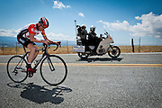 Radioshack rider Chris Horner of the United States climbs Sierra Road enroute to winning stage four of the 2011 AMGEN Tour of California from Livermore to San Jose in San Jose, Calif. on Wednesday, May 18, 2011. Horner claimed the overall race lead with the win.