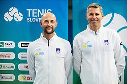 and Marko Por during photo session of best U12 Slovenian tennis players, on January 19, 2019 in TK Triglav, Kranj, Slovenia. Photo by Vid Ponikvar / Sportida
