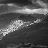 Light playing across the Mamores, Lochaber.