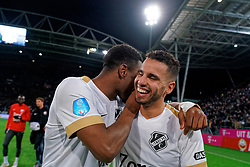 Gyrano Kerk #7 of FC Utrecht, Adam Maher #6 of FC Utrecht celebrate after  the semi final KNVB Cup between FC Utrecht and Ajax Amsterdam at Stadion Nieuw Galgenwaard on March 04, 2020 in Amsterdam, Netherlands