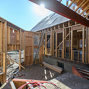 Canada, Edmonton. Sept/04/2013. McKernan Community League building renovation project. Interior structure & Roofing.