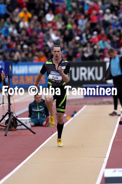 25.6.2014, Paavo Nurmen stadion, Turku.<br /> Paavo Nurmi Games 2014.<br /> Miesten pituus.<br /> Tommi Evil&auml; - Tampereen Pyrint&ouml;