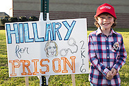 Madison, Mississippi, March 7, 2016  Conner Differnt, 8 years old, outside a Donald Trump rally the day before Mississippi primary.