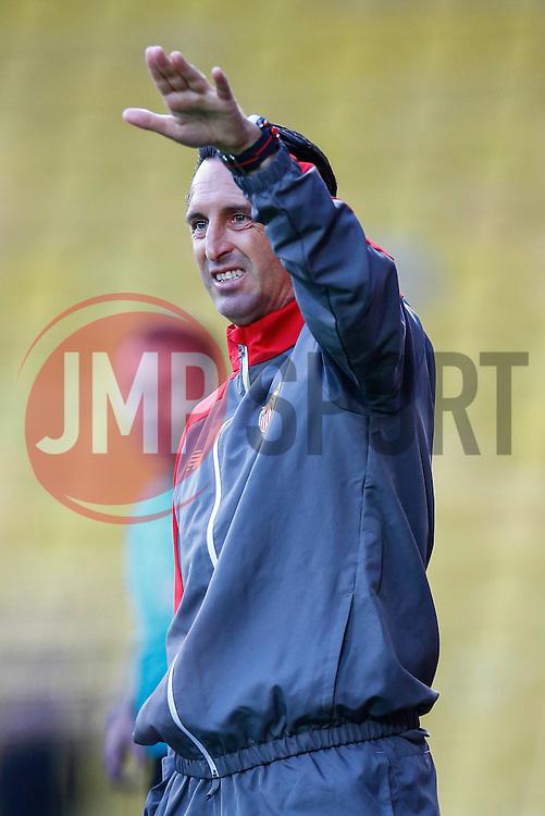 Sevilla manager Unai Emery is animated during the first half - Mandatory by-line: Jason Brown/JMP - Mobile 07966 386802 31/07/2015 - SPORT - FOOTBALL - Watford, Vicarage Road - Watford v Sevilla - Pre-Season Friendly