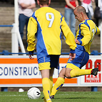 Queen of the South v St Johnstone...04.08.07<br /> Paul Sheerin scores Saints first goal from the penalty spot after David Weatherston was brought down<br /> <br /> Picture by Graeme Hart.<br /> Copyright Perthshire Picture Agency<br /> Tel: 01738 623350  Mobile: 07990 594431