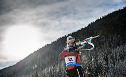 29.01.2013, Biathlonzentrum, Obertilliach AUT, IBU, Jugend und Junioren Weltmeisterschaften, Einzel Jugend Damen, im Bild Marie Noersteboe (NOR) (Bild mit Verlaufsfilter bearbeitet) // Marie Noersteboe from Norway (digitally processed with gradient filter) during the Individual Youth Women of IBU Youth  and Juniors World Championships at Biathloncenter, Obertilliach, Austria on 2013/01/29. EXPA Pictures © 2013, PhotoCredit: EXPA/ Michael Gruber