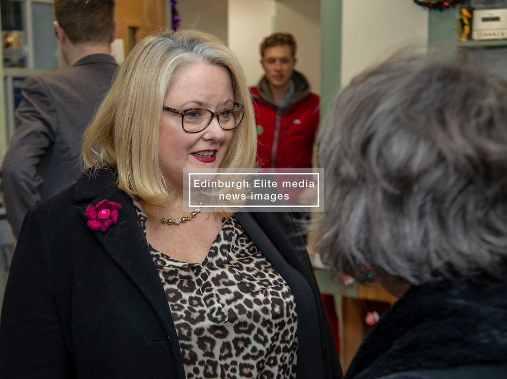 Pictured: Christina McKelvie<br />Minister for Older People and Equalities Christina McKelvie visited Bridgend Farmhouse in Edinburgh today and met with the board and volunteers to discuss the strategy and the many activities taking place. <br /><br />Ger Harley   EEm 18 December 2018