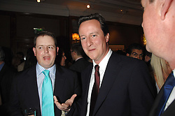 Left to right, MATTHEW d'ANCONA and DAVID CAMERON MP  at a party to celebrate the 180th Anniversary of The Spectator magazine, held at the Hyatt Regency London - The Churchill, 30 Portman Square, London on 7th May 2008.<br /><br />NON EXCLUSIVE - WORLD RIGHTS