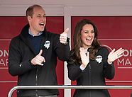Kate Middleton, Prince William & Harry Start Marathon