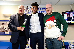 Ellis Harrison of Bristol Rovers with match Sponsor - Mandatory by-line: Dougie Allward/JMP - 23/12/2017 - FOOTBALL - Memorial Stadium - Bristol, England - Bristol Rovers v Doncaster Rovers - Skt Bet League One