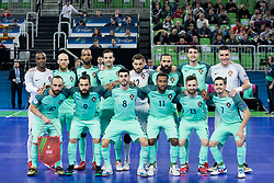 Players of team Portugal during futsal semifinal match between National teams of Russia and Portugal at Day 9 of UEFA Futsal EURO 2018, on February 8, 2018 in Arena Stozice, Ljubljana, Slovenia. Photo by Urban Urbanc / Sportida