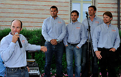 Eric Monnin introduces his team at the opening ceremony. Photo: Chris Davies/WMRT