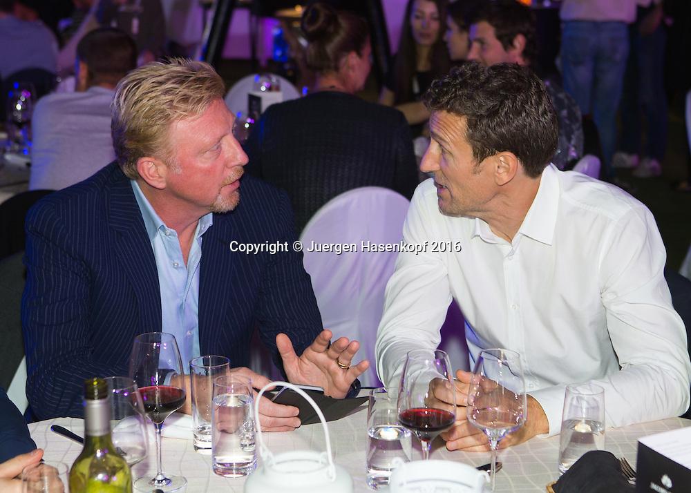 Dubai ATP Players Party,L-R. Boris Becker im Gespraech mit Patrik Kuehnen,privat,<br /> <br /> Tennis - Dubai Duty Free Tennis Championships - ATP -   - Dubai -  - United Arab Emirates  - 23 February 2016. <br /> &copy; Juergen Hasenkopf