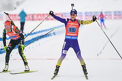 March 16, 2019 - –Stersund, Sweden - 190316 Valj Semerenko of Ukraine celebrates after the Women's 4x6 km Relay during the IBU World Championships Biathlon on March 16, 2019 in Östersund..Photo: Petter Arvidson / BILDBYRÃ…N / kod PA / 92268 (Credit Image: © Petter Arvidson/Bildbyran via ZUMA Press)