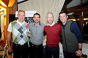 James Scorcroft, Julian Speroni, Shaun Derry and Alan Lee pose for photos during the Julian Speroni Testimonial Golf Day at the Surrey National Golf Club, Chaldon, United Kingdom on 9 September 2015. Photo by Michael Hulf.