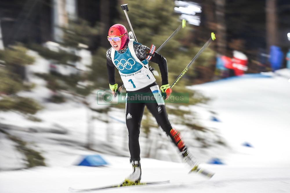 February 12, 2018 - Pyeongchang, Gangwon, South Korea - Laura Dahlmeier ofGermany  competing at Women's 10km Pursuit, Biathlon, at olympics at Alpensia biathlon stadium, Pyeongchang, South Korea. on February 12, 2018. Ulrik Pedersen/Nurphoto  (Credit Image: © Ulrik Pedersen/NurPhoto via ZUMA Press)