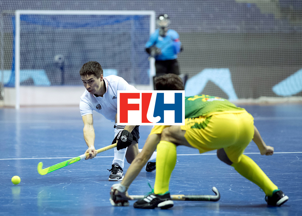 BERLIN - Indoor Hockey World Cup<br /> Men: Russia - South Africa<br /> foto: <br /> COPYRIGHT WILLEM VERNES