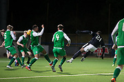 Roarie Deacon of Dundee scores with a sensational strike to restore the Dark Blues lead at 2-1  - Dundee v Hibernian, SPFL Under 20 Development League at Links Park, Montrose<br /> <br />  - &copy; David Young - www.davidyoungphoto.co.uk - email: davidyoungphoto@gmail.com