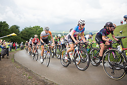 Shara Gillow (AUS) of Rabo-Liv Cycling Team (left), Lizzie Armitstead (GBR) of Boels-Dolmans Cycling Team (middle) and \lizbr of CANYON//SRAM Racing (right) ride up the first QOM climb during the Aviva Women's Tour 2016 - Stage 2. A 140.8 km road race from Atherstone to Stratford upon Avon, UK on June 16th 2016.