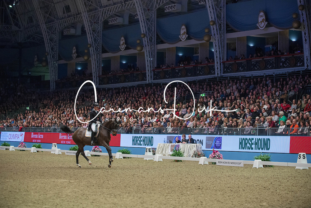 Missiaen Simon (BEL) - Vradin<br /> Reem Acra FEI World Cup Dressage K&uuml;r<br /> London International Horse Show Olympia 2013<br /> &copy; Hippo Foto - Jon Stroud