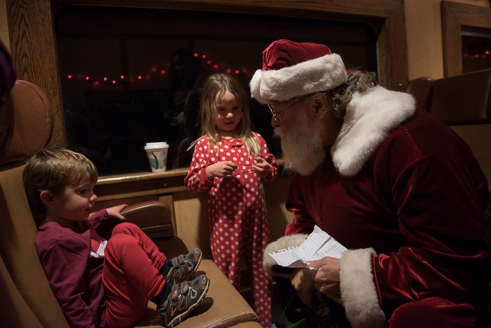 2016 DEC 3: Riding the Santa Train through Canyon City, CO.