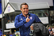 Ipswich Town Manager Paul Hurst  giving the thumbs up to the fans before the EFL Sky Bet Championship match between Ipswich Town and Bolton Wanderers at Portman Road, Ipswich, England on 22 September 2018.