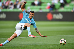 December 17, 2016 - Melbourne, Victoria, Australia - TIMOTHY CAHILL (17) of Melbourne City warms up prior to the round 11 match of the A-League between Melbourne City and Melbourne Victory at AAMI Park, Melbourne, Australia. Victory won 2-1 (Credit Image: © Sydney Low via ZUMA Wire)
