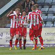 Rory McKenzie celebrates his goal - Dundee v Kilmarnock -  Clydesdale Bank Scottish Premier League . .© David Young - www.davidyoungphoto.co.uk - email: davidyoungphoto@gmail.com