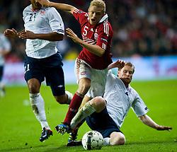 [DK=06-09-2011: EURO 2012 Kval. Danmark vs. Norge -  Nicolai Boilesen, Danmark - Tom Høgli, Norge..© Lars Rønbøg / Sportsagency ].[UK=06-09-2011: EURO 2012 Qual. Denmark vs. Norway - Nicolai Boilesen, Denmark - Tom Hoegli, Norway..© Lars Ronbog / Sportsagency ].