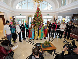 27.12.2011, Grand Hotel, Lienz, AUT, OESV Damen im Grand Hotel mit Sternsingern, im Bild vl. Marlies Schild, Elisabeth Goergl, ,Eva Maria Brem, Stefanie Koehle, Michaela Kirchgasser, Anna Fenninger, Nicole Hosp, Jessica Depauli, Kathrin Zettel // during meeting of the OESV Ladies with carol singers, Lienz, 27-12-2011, EXPA Pictures © 2011, PhotoCredit: EXPA/ M. Gruber