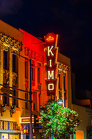 The KiMo Theater, a landmark building (National Register of Historic Places) built in Art Deco-Pueblo Revival style, on Central Avenue NW in Downtown Albuquerque, New Mexico USA.