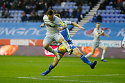 Derby County forward Jack Marriott (14) attempts a flick during the EFL Sky Bet Championship match between Wigan Athletic and Derby County at the DW Stadium, Wigan, England on 8 December 2018.