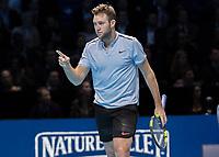 Tennis - 2017 Nitto ATP Finals at The O2 - Day Five<br /> <br /> Group Boris Becker Singles: Alexander Zverev (Germany) Vs Jack Sock (United States)<br /> <br /> Jack Sock (United States) at the O2 Arena<br /> <br /> COLORSPORT/DANIEL BEARHAM