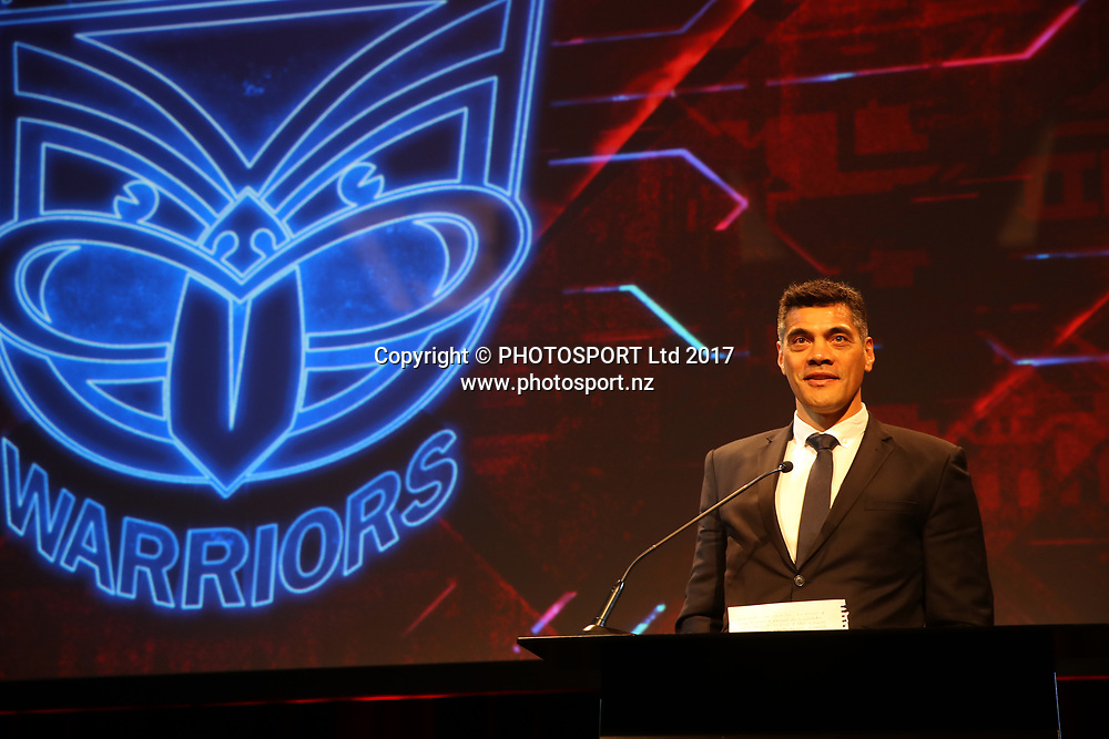 Warriors coach Stephen Kearney. 2017 Vodafone Warriors Awards Evening, Sky City, Auckland, Tuesday 19th September 2017. Copyright Photo: Shane Wenzlick / www.photosport.nz