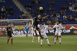 March 13, 2018 - Harrison, New Jersey, United States - Damian Musto (5) of Club Tijuana controls ball during Scotiabank Concacaf Champions League quarterfinal second leg game against Red Bulls at Red Bull Arena Red Bulls won 3 - 1 (5 - 1 on aggregate) (Credit Image: © Lev Radin/Pacific Press via ZUMA Wire)