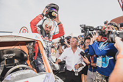 Chaleco Lopez (CHL) of South Racing CAN AM at the finish line after the last stage of Rally Dakar 2019 from Pisco to Lima, Peru on January 17, 2019. // Flavien Duhamel/Red Bull Content Pool // AP-1Y5HFUKP92112 // Usage for editorial use only // Please go to www.redbullcontentpool.com for further information. //