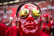 30 NOVEMBER 2013 - BANGKOK, THAILAND:  A pro-government Red Shirt wearing a red mask in Bangkok Saturday. Political faultlines in Bangkok, the Thai capital, hardened Saturday. Antigovernment factions repeated promises to strike at the heart of Bangkok Sunday and bring down the government while thousands of Red Shirts, who support the government, have come to Bangkok from their base in rural Thailand to defend the government. Prime Minister Yingluck Shinawatra has appealed for calm, but her opponents have rejected all requests for negotiations saying the only acceptable outcome is the eradication of the government.       PHOTO BY JACK KURTZ