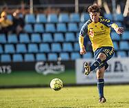 FODBOLD: Ertugrul Teksen (Brøndby IF) afslutter under kampen i Reserveligaen mellem Brøndby IF og FC Helsingør den 6. november 2017 på Brøndby Stadion, bane 2. Foto: Claus Birch