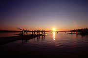 © Peter Spurrier Sports Photo.Tel 44 (0) 7973 819 551.e-mail pictures @rowingpics.com.Penrith Lakes - Penrith - NSW - Australia..Pic No. 461-47. Rowing Course: Penrith Lakes, NSW Sunrise, Sunsets, Silhouettes 2000 Olympic Regatta Sydney International Regatta Centre (SIRC) 2000 Olympic Rowing Regatta00085138.tif
