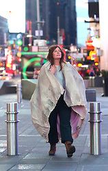 "Drew Barrymore looks unrecognizable while filming her latest movie project ""THE STAND-IN"" in Manhattan's East Village area and later filming in the early morning hours of Saturday in an almost empty Times Square. ""THE STAND-IN"" tells the story of a disaffected comedy actress and her ambitious stand-in trading places, both played by Drew Barrymore. Candy is a washed-up movie star, busted for a tax evasion, who hires her unemployed, adoring stand-in Paula to do community service in her place. However, a weird co-dependent relationship ensues as Candy begins to use Paula as a stand- in in all parts of her life to escape from the stressful demands of fame. Eventually, Paula starts to take over Candy's identity, career and boyfriend, finally kicking Candy out of her own house, where she is forced to survive in the real world for the first time while Paula lives the celebrity life of her dreams, until her boyfriend discovers the truth about the woman he's sleeping with. 16 Feb 2019 Pictured: Drew Barrymore. Photo credit: LRNYC / MEGA TheMegaAgency.com +1 888 505 6342"