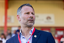 NEWTOWN, WALES - Sunday, May 6, 2018:  Wales' manager Ryan Giggs looks on before the FAW Welsh Cup Final between Aberystwyth Town and Connahs Quay Nomads at Latham Park. (Pic by Paul Greenwood/Propaganda)