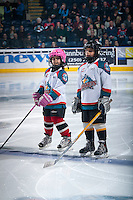 KELOWNA, CANADA - MARCH 11: The Pepsi Save On Foods Players of the Game line up on March 11, 2015 at Prospera Place in Kelowna, British Columbia, Canada.  (Photo by Marissa Baecker/Shoot the Breeze)  *** Local Caption *** Pepsi Save On Foods Players;