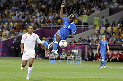 Mario Balotelli ITA against Glen Johnson during Italy V England Quarter-finals in the Euro 2012, Sunday June 24, 2012, in Kiev, Ukraine. Photo By Imago/i-Images