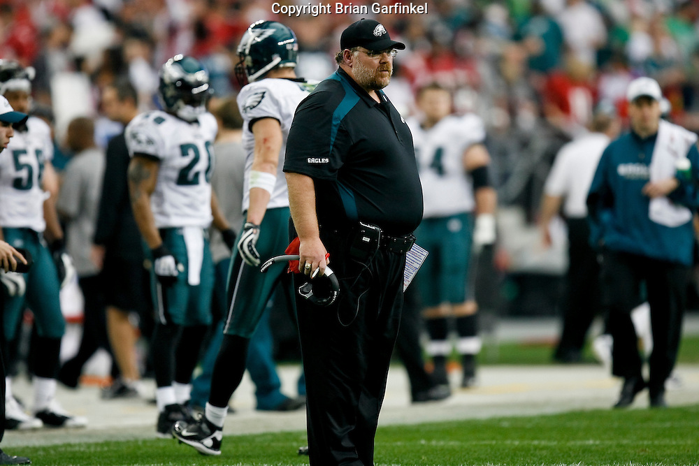 18 Jan 2009: Philadelphia Eagles Head Coach Andy Reid during the NFC Championship game against the Arizona Cardinals on January 18th, 2009. The Cardinals won 32-25 at University of Phoenix Stadium in Glendale, Arizona.