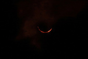 INDONESIA, Palembang : Wednesday 9 March 2016 A partial solar eclipse is seen in Palembang, Indonesia. The fenomena solar eclipse this time only way in Indonesia , Pic by Hairul Akbar / Story Picture Agency