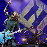WASHINGTON, DC - October 12th, 2017 - Dave Grohl and Taylor Hawkins of the Foo Fighters perform during the opening concert at The Anthem, Washington, D.C.'s newest concert hall. (Photo by Kyle Gustafson / For The Washington Post)