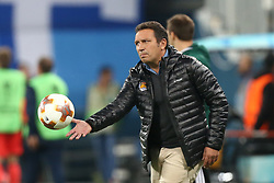 September 28, 2017 - Saint Petersburg, Russia - Head coach Eusebio Sacristán of FC Real Sociedad reacts during the UEFA Europa League Group L football match between FC Zenit Saint Petersburg and FC Real Sociedad at Saint Petersburg Stadium on September 28, 2017 in St.Petersburg, Russia. (Credit Image: © Igor Russak/NurPhoto via ZUMA Press)