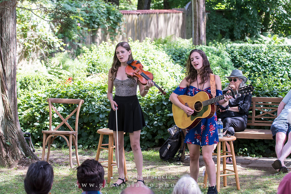 Michaela Anne performing on the Sunken Garden stage at the American Roots Music Festival at Caramoor in Katonah New York on June 24, 2017. <br /> (photo by Gabe Palacio)