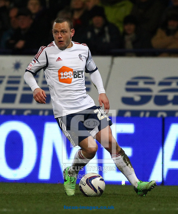 Picture by John Rainford/Focus Images Ltd +44 7506 538356.02/04/2013.Jay Spearing of Bolton Wanderers during the npower Championship match at the Reebok Stadium, Bolton.